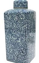 LIDDED JAR BLUE SPRING LG5
