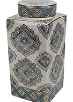 LIDDED JAR MOTIF BLUE5