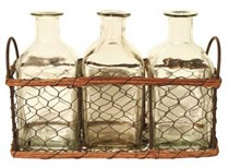 mini bottles in mesh basket2