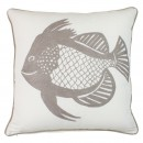LONE FISH NEUTRAL CUSHION