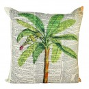 NEWSPAPER PALM CUSHION