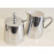 aluminium w white enamel sugar pot