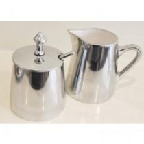 aluminium w white enamel sugar pot