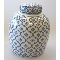 blue & white ceramic pumpkin small