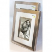 brushed metallic photo frame