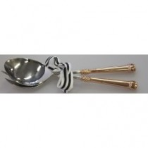 copper & nickle salad servers