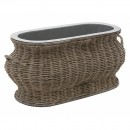 RATTAN WINE COOLER BASKET