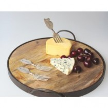 round French vintage cheese board large