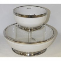 white ceramic bowl w rim and base medium