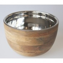 timber bowl stainless steel large